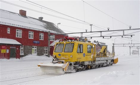 Snow clearing equipment for railroad