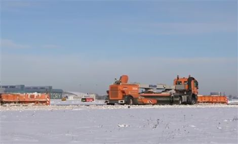 Warsaw Airport is clearing snow with equipment from Øveraasen AS
